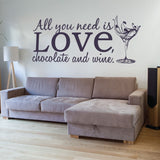 All You Need Wall Sticker Wall Sticker - Wall Chick