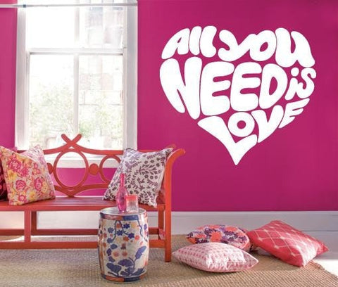 All You Need is Love Wall Sticker - Wall Chick