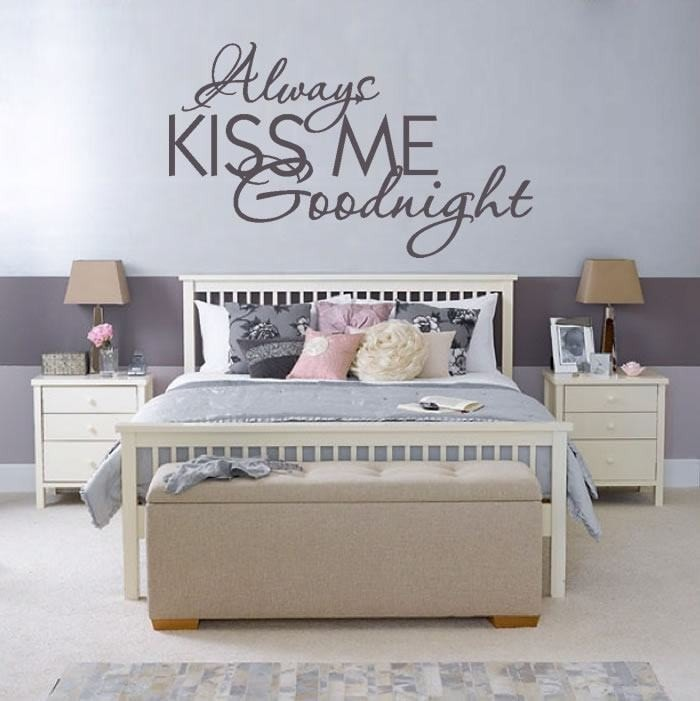 Always Kiss Me Good Night Wall Sticker - Wall Chick
