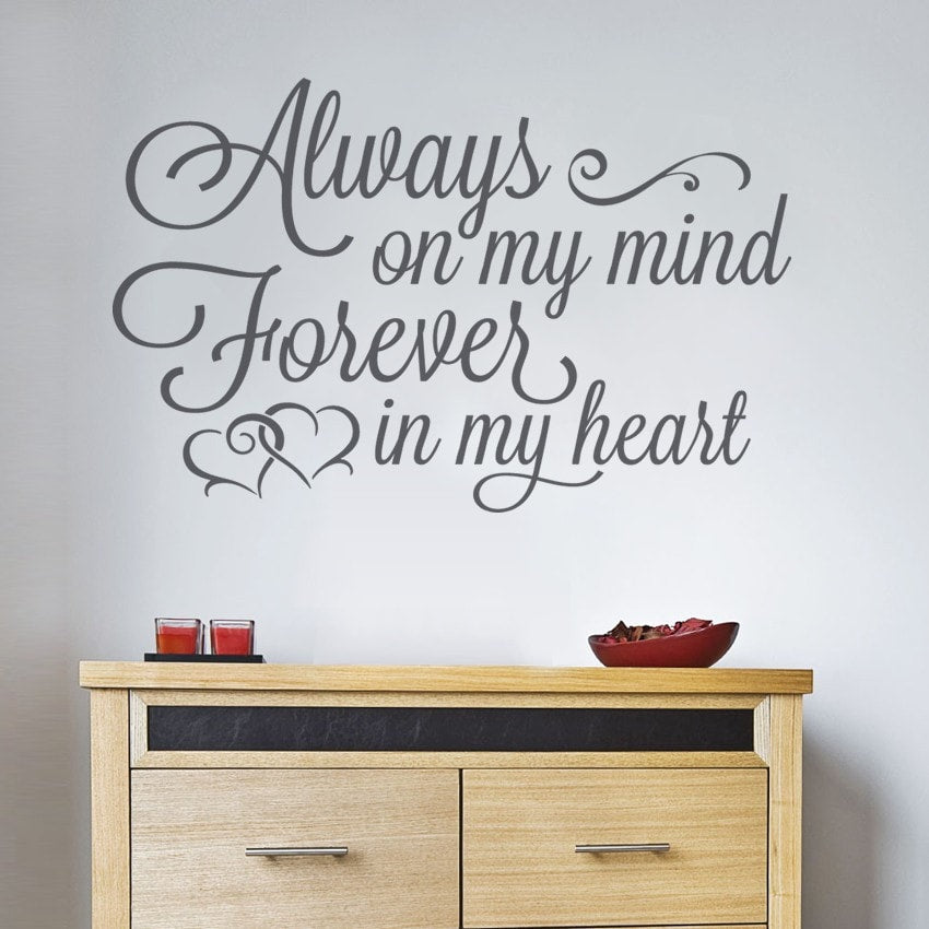 Always on My Mind Wall Sticker - Wall Chick