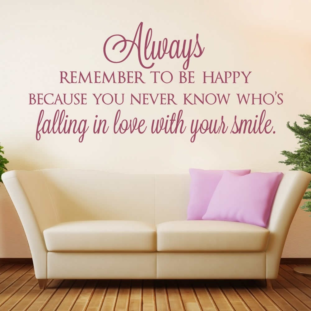 Always Remember to Be Happy Wall Sticker Wall Sticker - Wall Chick