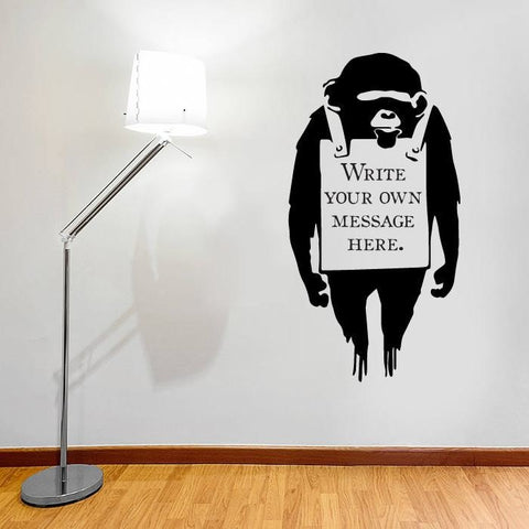 Banksy - Personalised Wall Sticker - Wall Chick