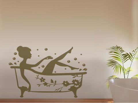 Bathtub Lady Wall Sticker Wall Sticker - Wall Chick