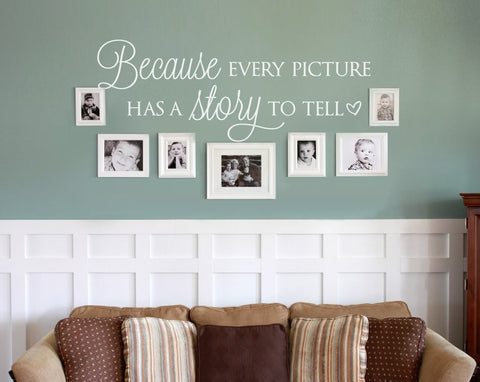 Because Every Picture Wall Sticker Wall Sticker - Wall Chick