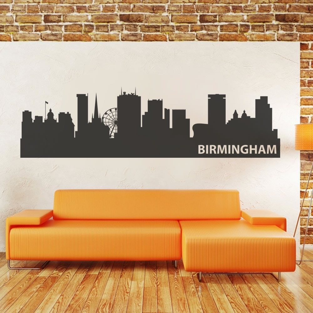 Birmingham Skyline Wall Sticker - Wall Chick