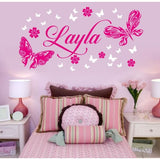 Butterfly Name Wall Sticker Wall Sticker - Wall Chick