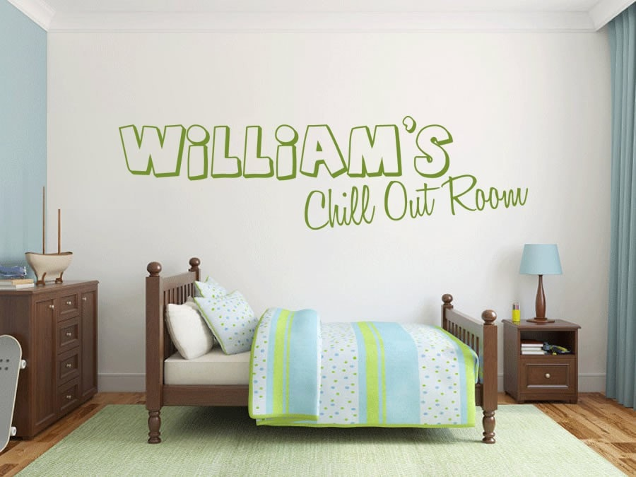 Chill Out Room with Name Wall Sticker - Wall Chick