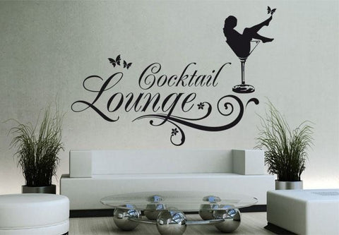 Cocktail lounge Wall Sticker Wall Sticker - Wall Chick