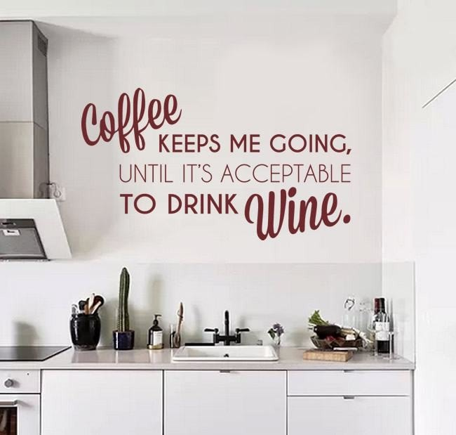 Coffee Keeps Me Going Wall Sticker - Wall Chick