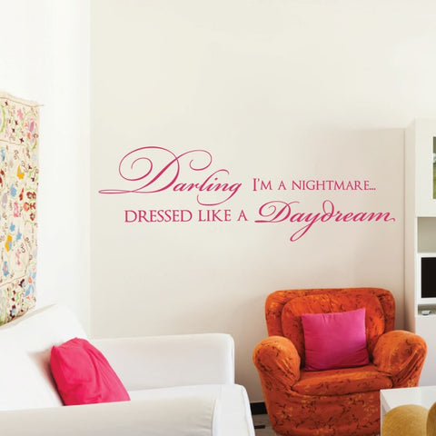 Darling I'm a Nightmare Wall Sticker - Wall Chick