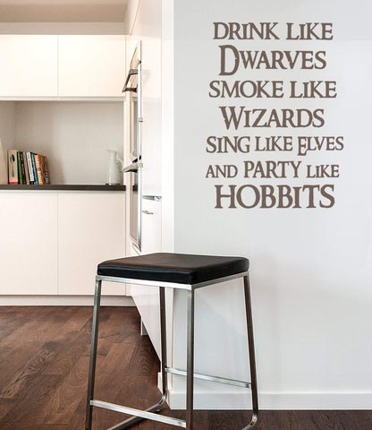 Drink Like Dwarves Wall Sticker