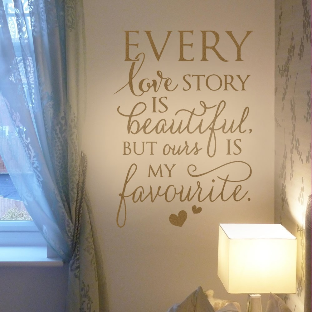 Every Love Story Tall Wall Sticker - Wall Chick
