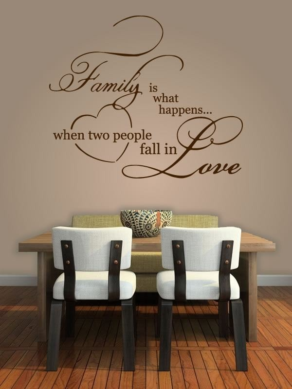 Family is what happens.. Wall Sticker - Wall Chick