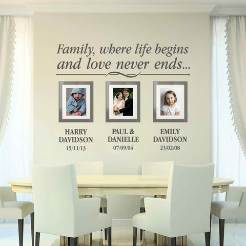 Family Frames Wall Sticker - Wall Chick