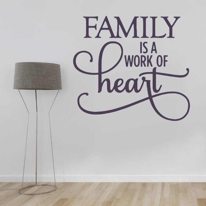 Family Is A Work Of Heart Wall Sticker Wall Sticker - Wall Chick