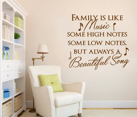 Family is Like Music Wall Sticker - Wall Chick