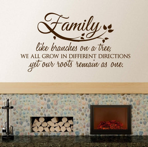 Family Like Branches Wall Sticker Wall Sticker - Wall Chick