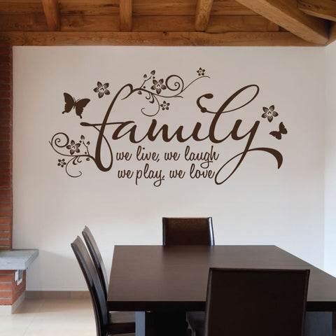 Family - We Live Wall Sticker Wall Sticker - Wall Chick