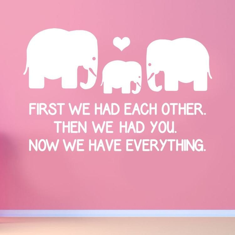 First We Had Each Other Wall Sticker Wall Sticker - Wall Chick