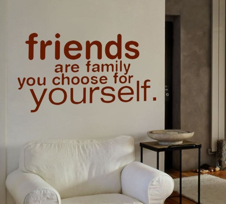 Friends are Family Wall Sticker Wall Sticker - Wall Chick