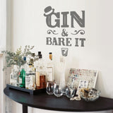 Gin & Bare It Wall Sticker
