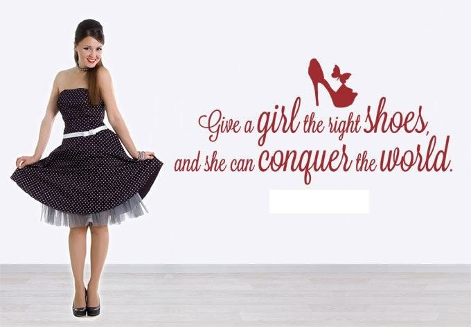 Give a Girl the Right Shoes Wall Sticker Wall Sticker - Wall Chick