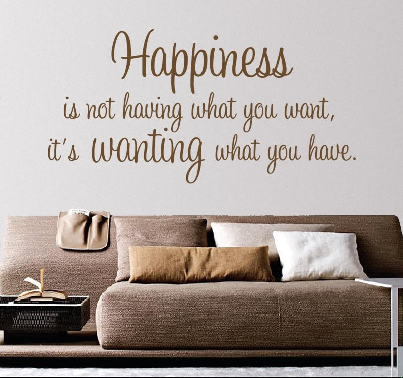 Happiness is Not Having Wall Sticker - Wall Chick