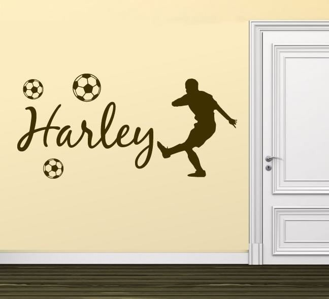 Footballer With Name Wall Sticker Wall Sticker - Wall Chick