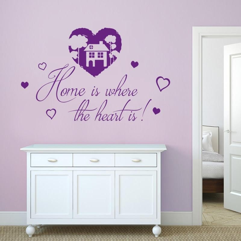 Home Is Where the Heart Is Wall Sticker Wall Sticker - Wall Chick