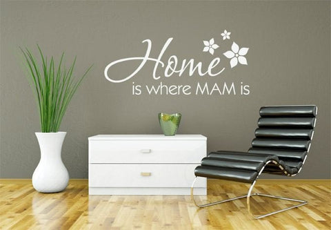 Home Is Where Mam Is Wall Sticker - Wall Chick