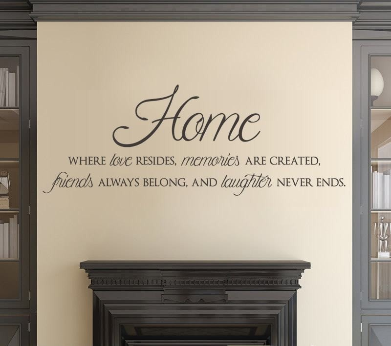 Home - Where love resides Wall Sticker - Wall Chick