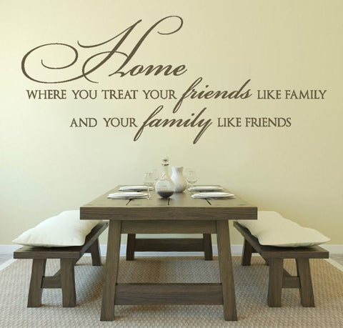 Home, where you treat your friends Wall Sticker Wall Sticker - Wall Chick