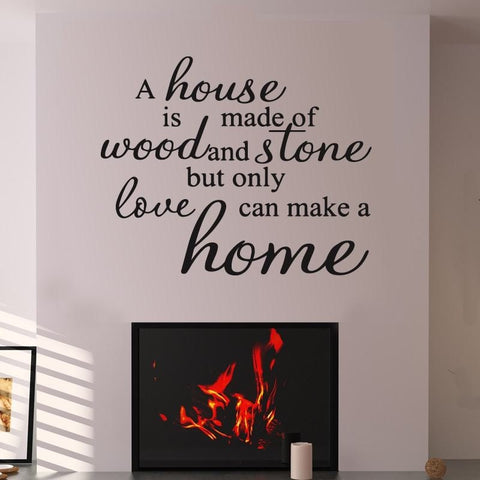A House Is Made Of Wood And Stone Wall Sticker - Wall Chick