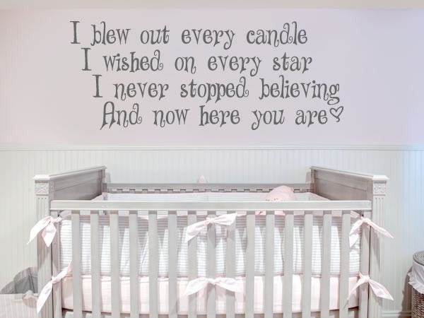 I Blew Out Every Candle Wall Sticker - Wall Chick