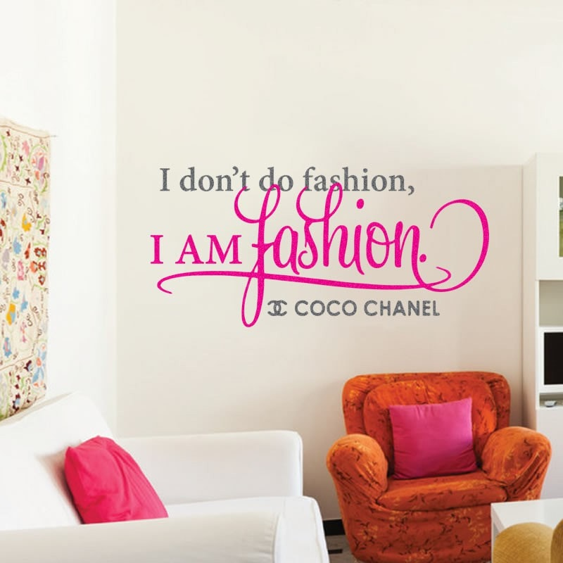 I Don't Do Fashion Wall Sticker - Wall Chick