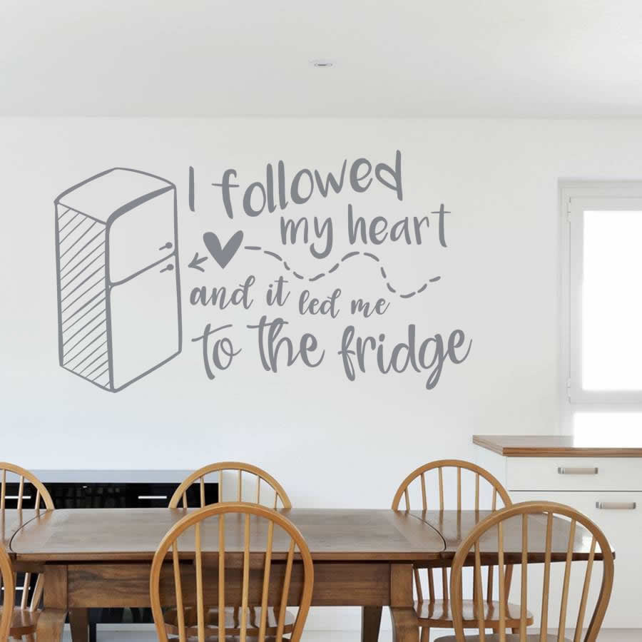I Followed My Heart Wall Stickers