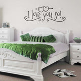 I Love You So Wall Sticker - Wall Chick