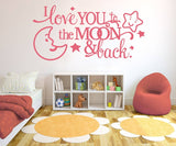 I Love You to The Moon Wall Sticker - Wall Chick