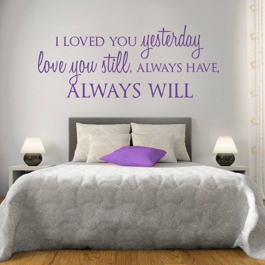 I Loved You Yesterday Wall Sticker - Wall Chick