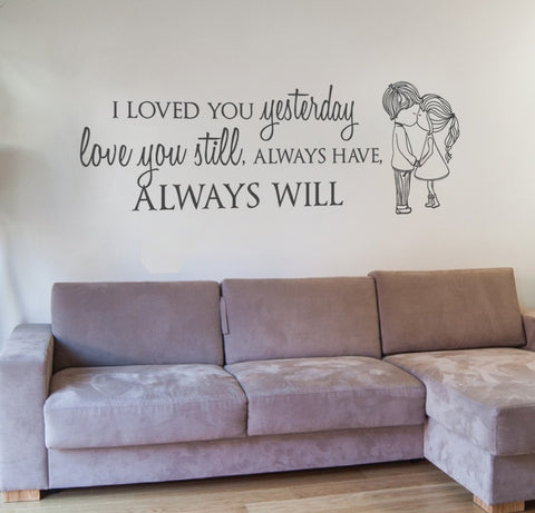 I Loved You Yesterday Couple Wall Sticker - Wall Chick