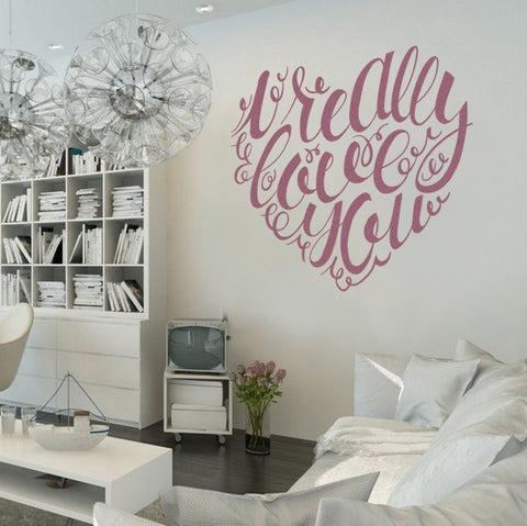 I Really Love You Heart Wall Sticker - Wall Chick