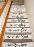 In Our Home Stairs Wall Sticker - Wall Chick
