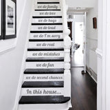 In This House Stairs Wall Sticker - Wall Chick