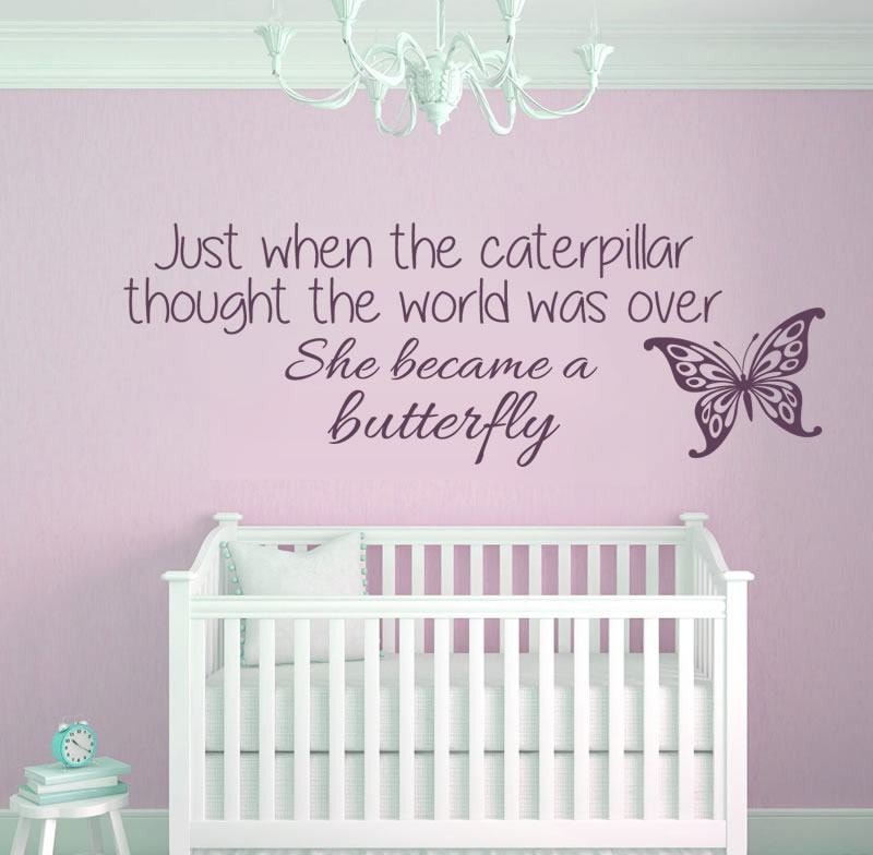 Just when the Caterpillar Wall Sticker - Wall Chick
