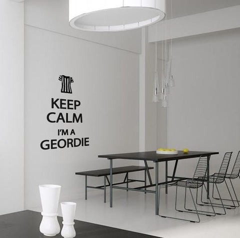 Keep Calm - I'm a Geordie Wall Sticker - Wall Chick