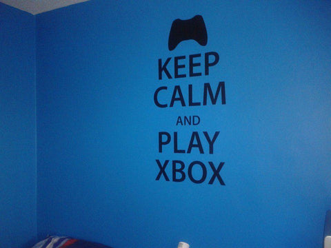 Keep Calm and Play Xbox Wall Sticker - Wall Chick
