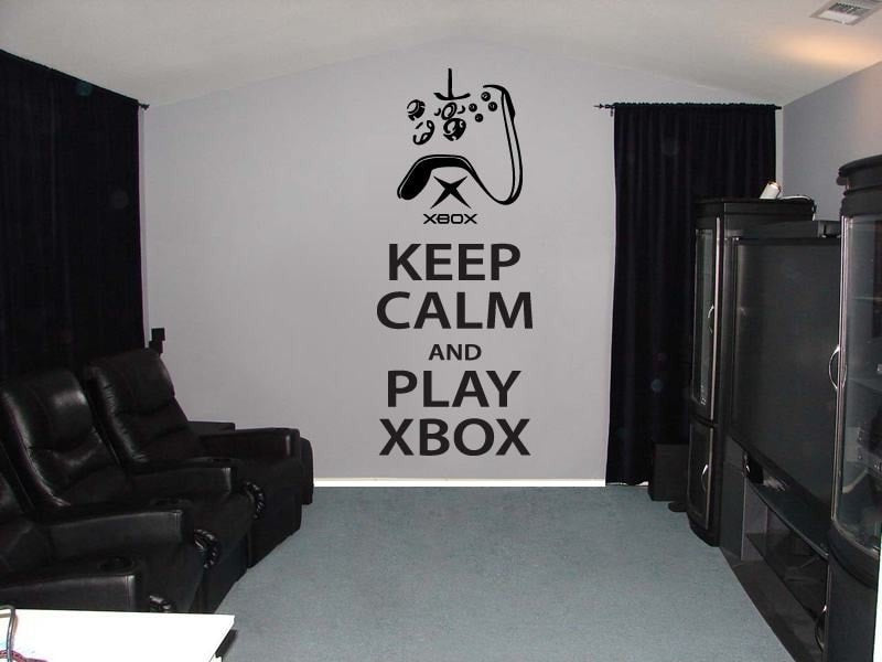 keep calm and play xbox one wall sticker