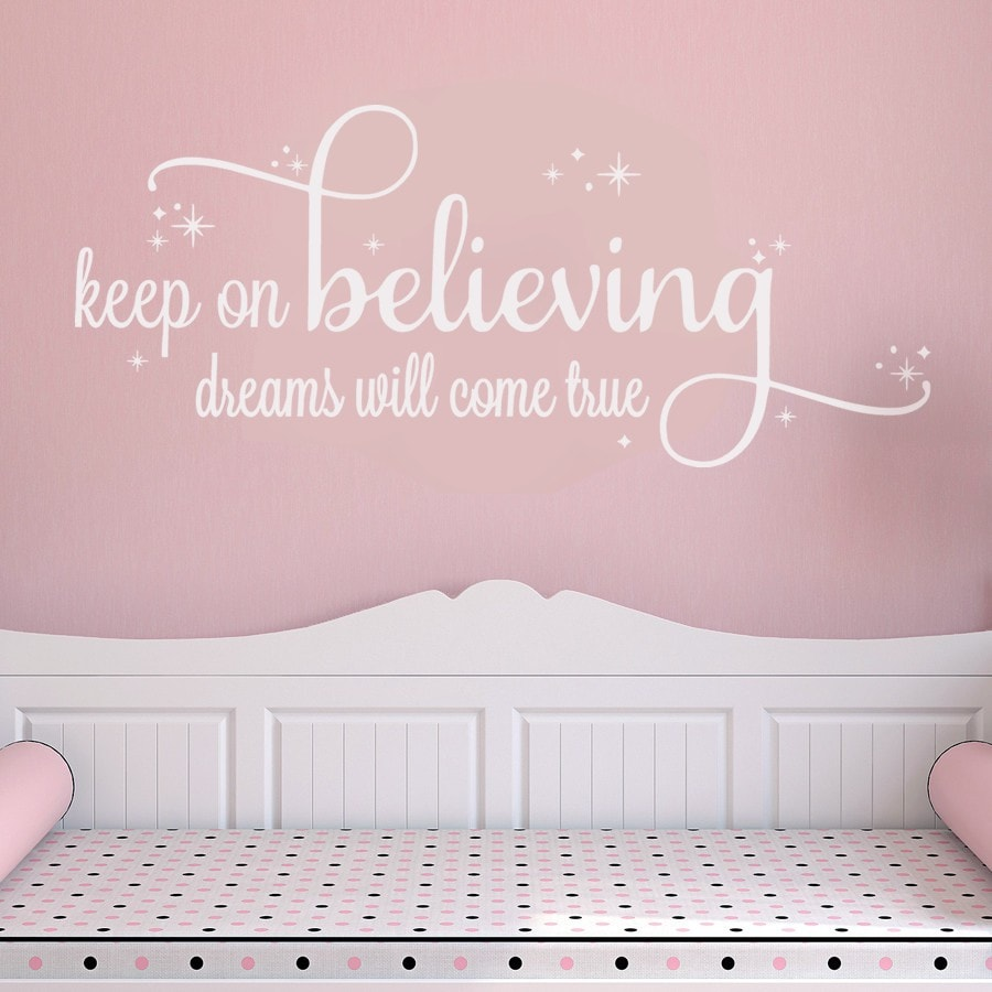 Keep on Believing Wall Sticker - Wall Chick