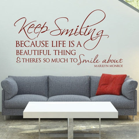 Keep Smiling Wall Sticker - Wall Chick