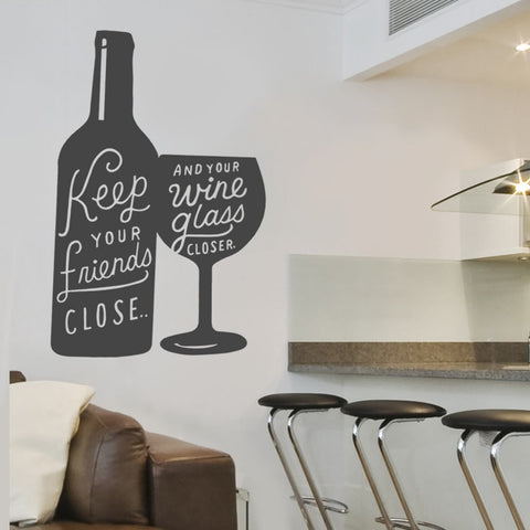 Keep Your Friends Close Wall Sticker - Wall Chick
